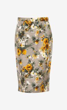 Dolce & Gabbana Grey And Yellow Skirt | VAUNTE