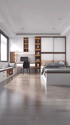 Small Room Design Bedroom, Small House Interior Design, Bedroom Door Design, Bedroom Furniture Design, Modern Bedroom Design, Home Room Design, Bedroom Layouts, Apartment Design, House Rooms