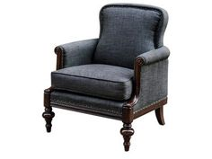 At least 2 - for the LR, and possibly 1 for each BR...or maybe just for the MBR? Seat height's right, back height's right. Might have to change the fabric, though. Love this, though - it'd fit right in, style-wise! Uttermost Hooper English Armchair, 23612. English style library chair with meticulous details in the hand-carved, dark hickory-finished frame, petite rolled arms and double-fold edging under antique brass accent nails.
