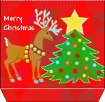 FREE Printable Christmas Gift Boxes - great for holiday parties