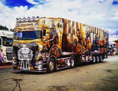 Show Trucks, Big Rig Trucks, Rc Trucks, Customised Trucks, Custom Trucks, Dark Fantasy Art, Trailers, Custom Big Rigs, Car Cleaning Hacks