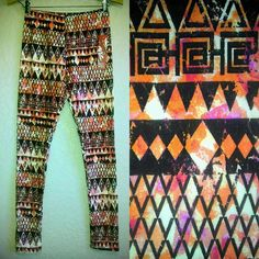 HOT KISS WOMEN'S LEGGINGS-NWT-TRIBAL AZTEC PRINT TIGHTS SUPER SOFT YOGA PANTS in Leggings | eBay