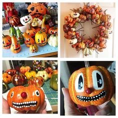 I love seeing all the #gourdguyswreath creations that everyone is making 😍 You can find the tutorial on my blog Mypapercrane.com for both creating the gourd faces & how to turn them into ornaments or add them to a wreath. Please keep tagging your photos so I can see all their crazy little faces 👌 #halloween2016 #crafterween