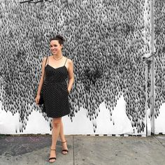 OOTD street style Brooklyn, Bushwick, NYC. black and white.  The Roving jewelry @TheRoving via Instagram