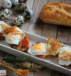 Directo al Paladar - Pinchos de huevo de codorniz con sobrasada. Receta Raw Food Recipes, Appetizer Recipes, Great Recipes, Appetizers, Cooking Recipes, Favorite Recipes, Healthy Recipes, Quiches, Spanish Dishes