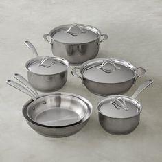 Lagostina Opera Stainless-Steel 10-Piece Cookware Set