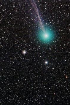 Comet C/2014 Q2 (Lovejoy) + Globular Cluster M79