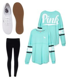 """""""Untitled #2"""" by nicolegoff ❤ liked on Polyvore featuring mode, Victoria's Secret PINK et Vans"""