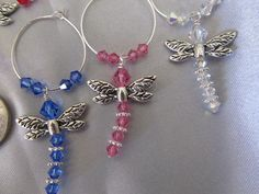 Dragonfly wine glass charms by Crickety on Etsy, $16.00