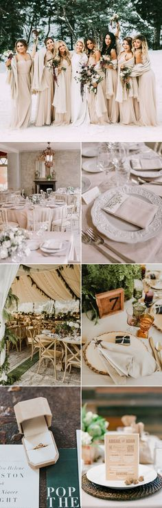 Colors of the Season! Top 7 Sophisticated Winter Wedding Color Themes We Love! Blushing Neutrals!