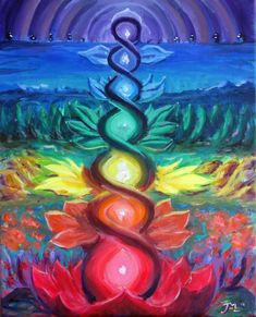 This reminds me one of the best meditation I had in Bali. A meditation to develop our chakras, I saw each colors of them. This experience was awesome. Art Chakra, Chakra Painting, Chakra Healing, Yoga Painting, Painting Tattoo, Chakra Symbols, Painting Inspiration, Art Inspo, Tattoo Inspiration