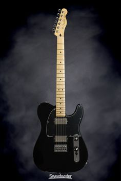 Fender Blacktop Telecaster HH - Black, Maple | Sweetwater.com | Solidbody Electric Guitar with Alder Body, Maple Neck and Fingerboard, and 2 Humbucking Pickups - Black