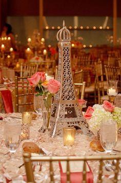 Centros de mesa con Torre Eiffel - Dale Detalles