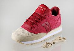 """#Saucony Jazz """"Luxury Pack"""" Sand/Red #sneakers"""