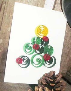 Carte Sapin de Noël Quilling