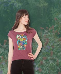 Line2Rhyme: Zentangle T-Shirt: music in the air, Flower-Power Festival T-Shirt, Musik, Zentangle inSpired Art, @line2rhyme