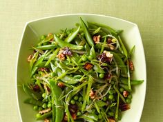 Spring Peas with Dates and Walnuts : This best-of-the-season side dish calls for not one but three kinds of spring peas: English, sugar snap and snow.