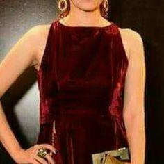 Velvet gown Silk trouser and birds embriodery on it Dresses Asymmetrical