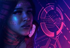 valanthos:  Neon Machina: Cyber Cellular by hybridgothica