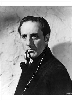 photo Basil Rathbone film Sherlock Holmes The Woman in Green Adventures Of Sherlock Holmes, Classic Portraits, Film Institute, John Watson, Baker Street, Poster Size Prints, Basil, At Least, Image
