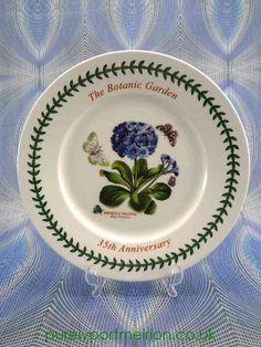 Portmeirion Botanic Garden 35th Anniversary Luncheon Plate U0026 Certificate