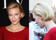 Cate Blanchett likes to experiment with her hair, going from a funky pixie to a layered look, but the elegant soft bob is one of her best looks and suits her delicate features well.