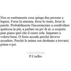 Le anime son destinate a trovarsi prima o poi - P. Coelho