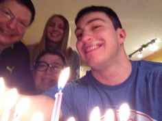 Happy holidays with the fam The Fam, Happy Holidays, Birthday Candles