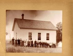 Vintage Photograph Of School Children With Old School House Old School House, School Days, School Prayer, Country School, School Children, School Building, Vintage School, School Pictures, Early Education