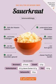 sauerkraut-Sauerkraut That 's why sauerkraut is so healthy eatsmarter.de sauerkraut-Sauerkraut That 's why sauerkraut is so healthy eatsmarter.de sauerkraut-Sauerkraut That & # s why sauerkraut is so healthy eatsmarter. Healthy Life, Healthy Living, Healthy Protein, Healthier Together, Food Facts, Eat Smarter, Diet And Nutrition, Holistic Nutrition, Proper Nutrition