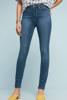 Slide View: 1: Paige Hoxton High-Rise Skinny Jeans