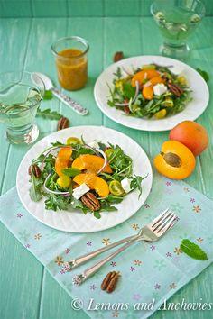 Arugula Salad with Apricot Mint Vinaigrette