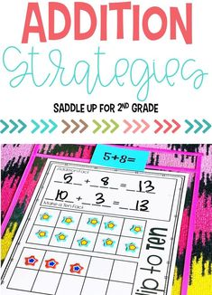 This resource is packed with effective strategies for understanding numbers in 2nd grade! Including hands-on activities and worksheets, it's the perfect way to introduce and review addition strategies. Click to see the activities included! #additionstrategies #handsonmath