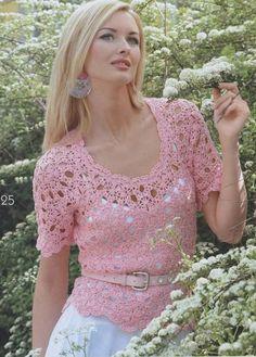 crochet blouses women   MADE TO ORDER spring / summer women crochet blouse by AsDidy