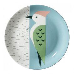 Plato cerámica Pic Verde Multicolor  Donna Wilson
