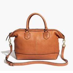 "Madewell The Berliner Satchel DETAILS: Structured but slouchy shape -Rich Textured Leather -Zip closure w/Interior zip pocket -17 3/4"" shoulder strap 4 2/3"" handle drop -Overall dimensions 10 7/16""H x 11 13/16""W x 5 1/8""D Note: Bag comes with shoulder strap. Overall in good used condition. There are some signs of wear to the corners and one side (pictured) however this bag still has lots of life in it!  If an item is marked sale, that is the lowest price. Thanks! Madewell Bags Satchels"