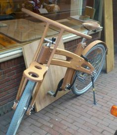 Wooden bike Amsterdam