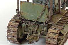 Trumpeter 1:35 scale model Russian ChTZ S-65 Tractor by John Tolcher. #tractor #rust