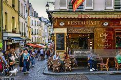 Stock Photo : Saint Medard District in Paris, France