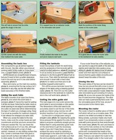 Build Horizontal Router Table - Router Tips, Jigs and Fixtures - Woodwork, Woodworking, Woodworking Plans, Woodworking Projects Woodworking Shop Layout, Woodworking Plans, Woodworking Projects, Router Plate, Router Table, Repair Ceilings, Bench Vise, Joinery, Tricks