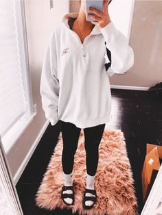 Cute Outfits With Leggings, Cute Lazy Outfits, Teenage Outfits, Legging Outfits, Basic Outfits, Sporty Outfits, Teen Fashion Outfits, Outfits For Teens, Look Fashion