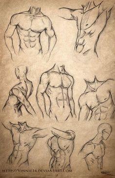 Como desenhar um corpo masculino