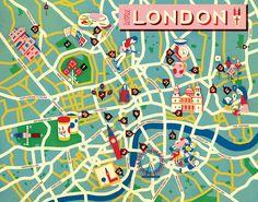 Jon Frickey: Meine Stadt - Map of London for Neon Magazine, Germany