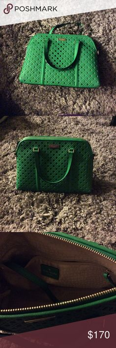 "‼️Kate Spade Newbury Lane Chaining Rachelle ‼️ In brand new condition Kate spade purse in sproutgreen. Retails for $398. Beautiful beautiful purse. Dimensions are 13""Wx9""Hx4.5""D. Has handle to make into cross body as well. Very elegant or casual purse. Open to offers. kate spade Bags"
