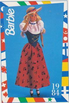 1991 Mattel Barbie Trading Card 72 1984 Swiss Barbie Dolls of The World   eBay