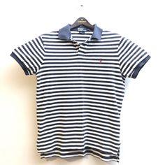 f2b9d9e8b9 Polo Ralph Lauren Mens Shirt Custom Fit Mesh Knit Striped Pony Logo Gray L  EUC #