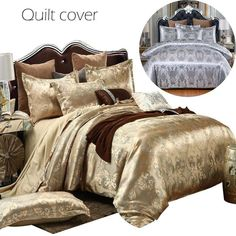 Luxury Duvet Quilt Cover Jacquard Embroidered Cosy Soft Bedding Set Double King Quilt Bedding, Linen Bedding, Bedding Sets, Bed Covers, Duvet Cover Sets, Pillow Covers, Natural Duvet Covers, Quilt Cover, Blanket