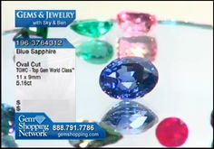 Gemstones for sale featuring a blue sapphire available at Gem Shopping Network