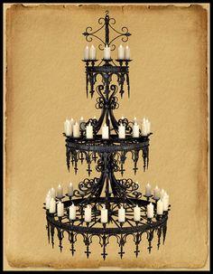 CH9988 Gothic Style 48 Light Three Tier Chandelier | eBay