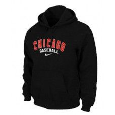 Wholesale Men Fashion Winter Chicago Cubs Black Baseball Pullover Hoodie_Chicago Cubs Pullover Hoodie